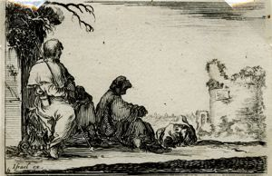 "Image of [Pilgrims Resting] from the series ""Capricci (Whims)"""