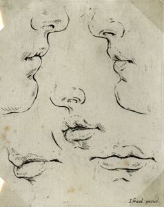 "Image of [Five Mouths], from the series ""Book for the Study of Drawings"""