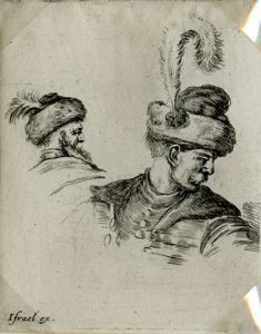 "Image of [Busts of Two Polish Men in Hats], from the series ""Book for the Study of Drawin"