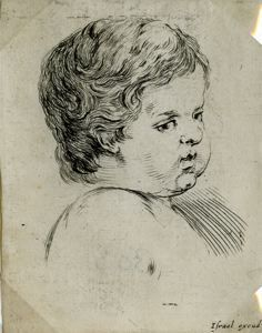 "Image of [Head of an Infant], from the series ""Book for the Study of Drawings"""