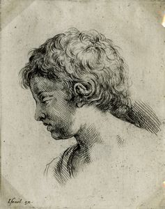 "Image of [Head of a Young Girl], from the series ""Book for the Study of Drawings"""
