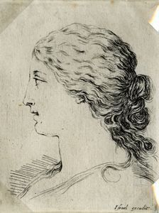 "Image of [Head of a Woman], from the series ""Book for the Study of Drawings"""