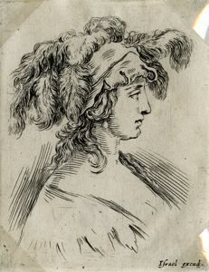 "Image of [Bust of Young Woman], from the series ""Book for the Study of Drawings"""