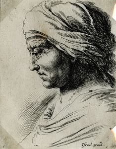 "Image of [Head of an Old Woman], from the series ""Book for the Study of Drawings"""