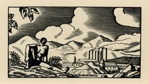 Image of African Negro with a Mining Plant from the Doremus series